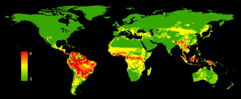 Number of Data Deficient terrestrial mammals
