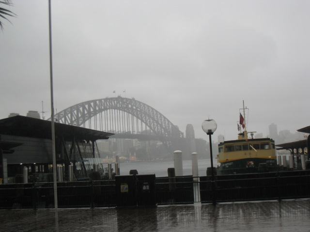To rainy Sydney :(